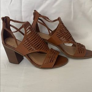 Merona tan summer Sandals peep toe 6 1/2